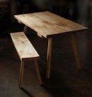 Kitchen Table and Bench by Adrian McCurdy