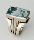 Pevsner ring with Aqua by Alan Vallis