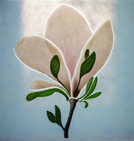 Magnolia - Detail of Fused Glass Panel