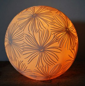 Fronds Sphere - contemporary ceramic lighting