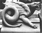 Portland stone Dragon by Andrew Tanser