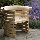 Funnel Chair - Air-dried Oak with stainless steel spacers by Angus Ross