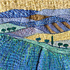 Embroidered Landscape by Carol Naylor