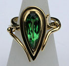 Tsavorite Ring by Caroline Brook