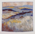 Frost on the Downs - machine embroidered textile art by Carol Naylor