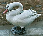 Large Stoneware Swan by Colin Kellam