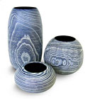Blue Vases by Colin Norgate