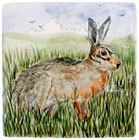 Hare Tile by David Salsbury
