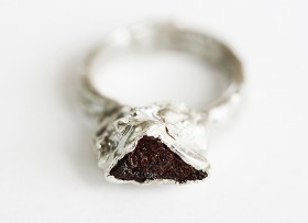 Ring, Cairn Collection. Silver and Stone