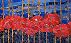 Wayside Poppies - Mosaic by Emma Cavell