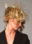 'Swan01' Headwear accessories, gilded brass by Emma Yeo