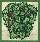 Green Man Greetings Card by Hedingham Fair