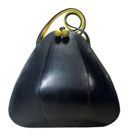 Black Lime Petal Bag