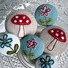 Embroidered Buttons by Jenny Arnott