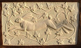 Leaping Hare - pargeting