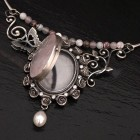 Rose Quartz Locket Torque by Julia Thompson