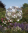 Dandelion Clock - Aluminium, steel and brass sculpture by Julie Grose