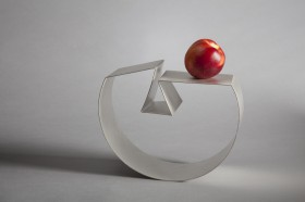 A Bowl for Fruit, Sterling Silver, 220x150x80, 2015, Image Alex Brattell