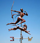 Diana the Huntress - copper weathervane by Greens Weathervanes