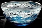 Crystal Overlay Bowl, Cameo engraved by Lesley Pyke