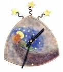 Angel Clock - enamel on copper by Linda Connelly