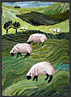 Grazing Sheep - Rag Rug by Louisa Creed