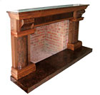 American Black Walnut Firesurround by Louise Biggs