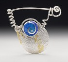 Spirals Brooch by Lynne Glazzard
