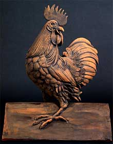 Cockerel ridge tile