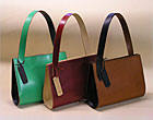 Leather bags by Fiona Craig