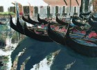 A Flotilla of Gondolas' batik on cotton by Rosi Robinson