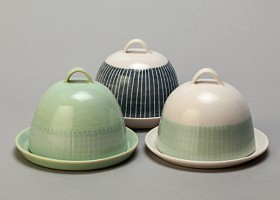 Three butter dishes