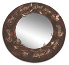 """Nearer God's Heart"" Mirror - copper work by Siân Elizabeth Evans"