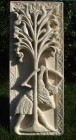 Archer carved in Lincoln Cathedral limestone by Simon Keeley