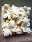 Oak Leaf - stone carving by Tom Brown