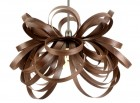 Butterfly Pendant Lamp - steam bent walnut by Tom Raffield