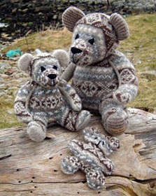 Burra Bears - recycled from Fair Isle jumpers