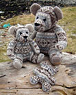 Burra Bears - recycled from Fair Isle jumpers by Wendy Inkster