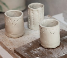 unfired jampots