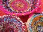Raggedy coiled baskets