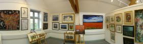 The Oriel CRiC Gallery during the Open Art exhibition in 2015