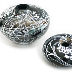 Blown glass by Jake Mee, Smithbrook Glass