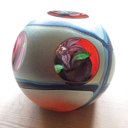 Richard Golding�s colourful blown glass