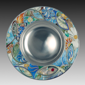Phil Barnes, enamelled plate