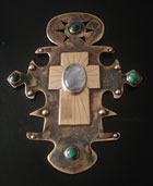 Ornate cross by Sian Elizabeth Evans, coppersmith