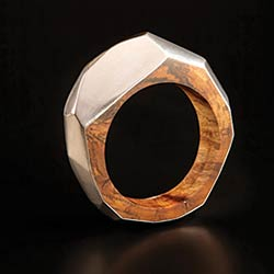 Oak & silver bangle by Diane Turner, at Living Crafts Hatfield, 9-12 May