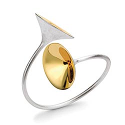 'Fanfare Double', jewellery by goldsmith Paul Spurgeon