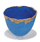 Blue and gold bowl, Alison Simpson page 66