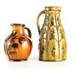 Pottery jugs by Hannah McAndrew and Douglas Fitch
