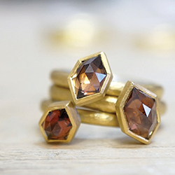 Mark Nuell: gold and Australian zircon ring set.